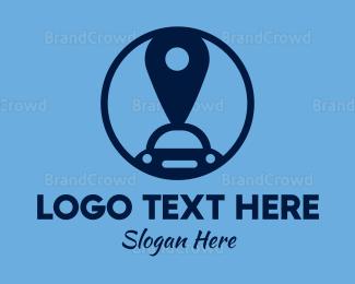 Car Hire - Car Pin logo design