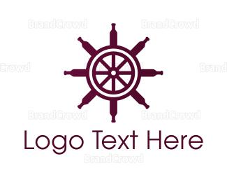 Wine - Wine Wheel logo design