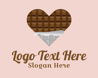 Dessert - Heart Chocolate Dessert  logo design