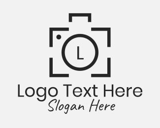 Polaroid - Photography Studio Letter logo design