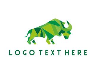 Jeweler - Green Geometric Rhino logo design