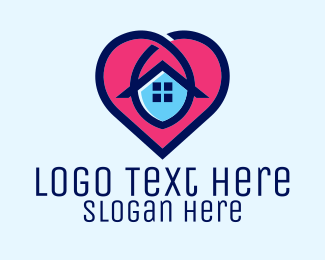 Work At Home - Safe Heart Home logo design