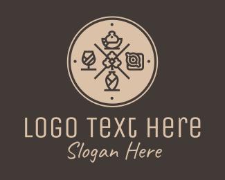 Resto - Hipster Fine Dining Restaurant logo design