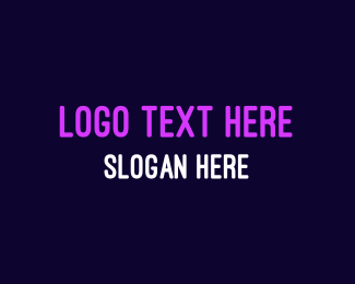 Bright Neon Purple Logo