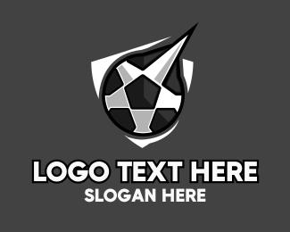 Sports - Soccer Star Shield logo design