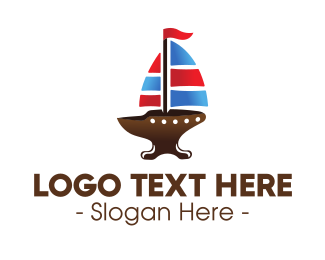 Oceanic - Iron Galleon Ship logo design