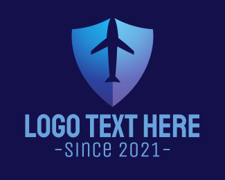 Travel - Airplane Shield logo design