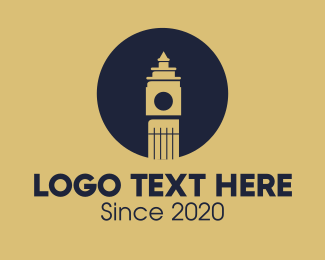 Landmark - London Big Ben Landmark logo design