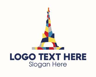 France - Eiffel Tower logo design