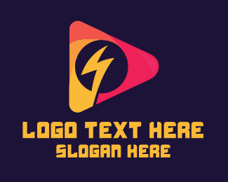 Voltage - Electronic Music Player logo design