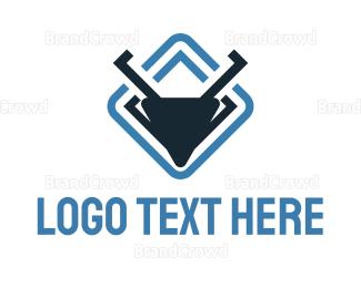 Robot - Robotic Deer logo design