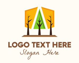 Season - Geometrical Forest Park logo design