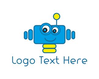 Robot - Blue Robot logo design