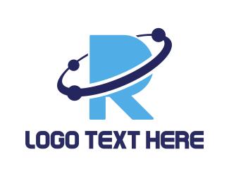 Astrology - Blue Planet R logo design