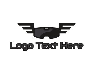 5d - VR Goggle Wing logo design
