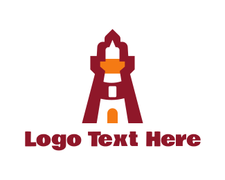 Guard Tower - Red Lighthouse logo design