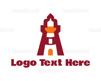 Maritime - Red Lighthouse logo design