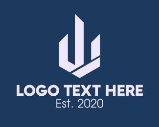 Infrastructure - Property Building Letter W logo design