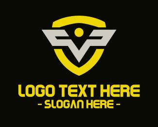 Letter V - Letter V Shield logo design