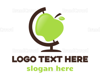 Globe - Apple Globe logo design