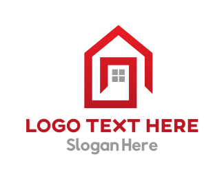 Red House - Minimalist Red House  logo design