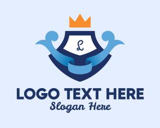 Baby Care - Cute Crown Emblem Lettermark logo design