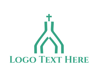 Baptist - Mint Church logo design
