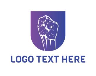 Gesture - Fist Outline logo design