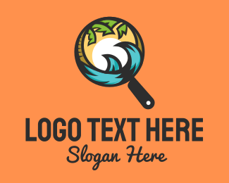 Travel Magnifying Glass Logo