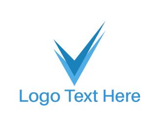 Approval - Blue Check logo design