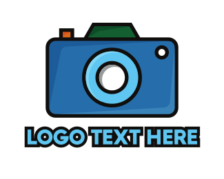 Artistic - Artistic Blue Camera  logo design