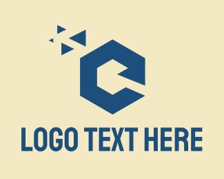 Pixel - Tech Letter C logo design
