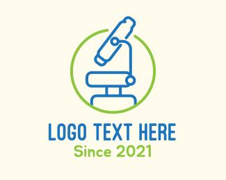 Lab Equipment - Microbiological Science Lab logo design