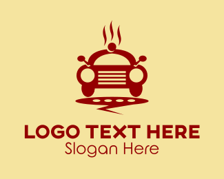 Take Out - Food Car Delivery  logo design