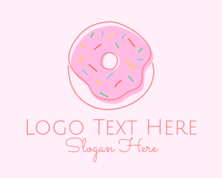 Donut Shop - Sprinkled Donut Pastry  logo design