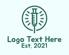 Medical - Green Injection Outline logo design