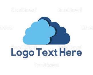 Nappy - Blue Cloud logo design