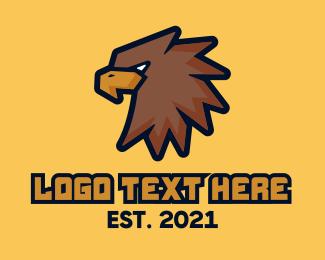 Esport - Brown Eagle Mascot logo design