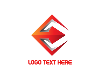 Trident - Red Spear logo design