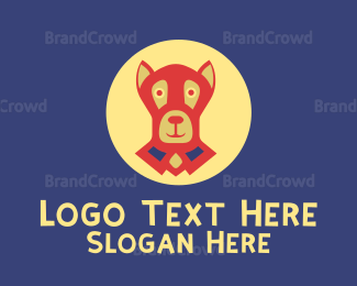 Dachshund - Black Dog logo design
