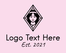Maiden - Diamond Maiden Wellness logo design