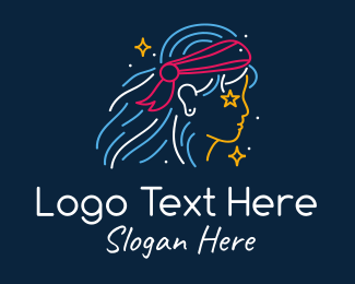 Fierce - Lady Leader Bandana logo design