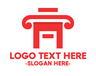 Legal - Red Legal House logo design