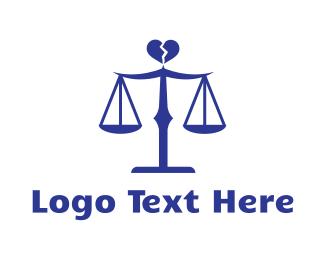 Lawyer - Divorce Lawyer Scales logo design