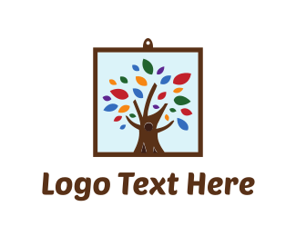 Artsy - Framed Tree logo design