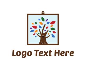 Artistic - Framed Tree logo design