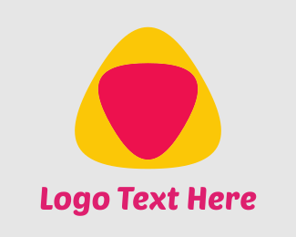 Guitar - Yellow Pink Triangles logo design