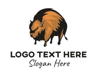 Furry - Wild Bison logo design