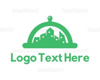 Cloche - Green Cloche City logo design