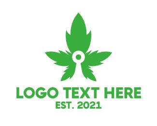 Bullseye - Cannabis Target  logo design